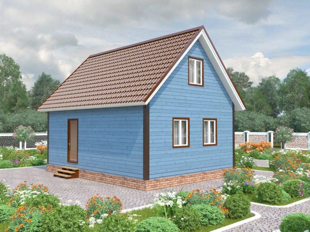 Проект дома из бруса 6х8 №Б-77 — «Зеленогорск»