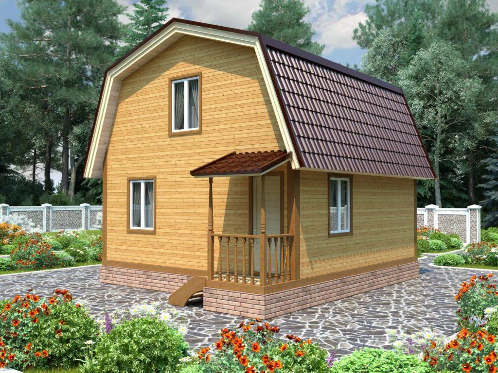 Проект дома из бруса 6х6 №Б-76 — «Ермолино»