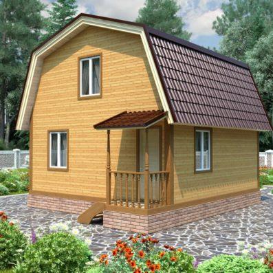 """Проект дома из бруса 6х6 №Б-76 - """"Ермолино"""""""
