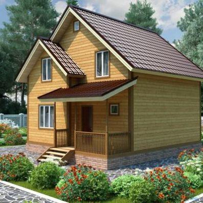 """Проект дома из бруса 7,5х8,5 №Б-78 - """"Коломна"""""""