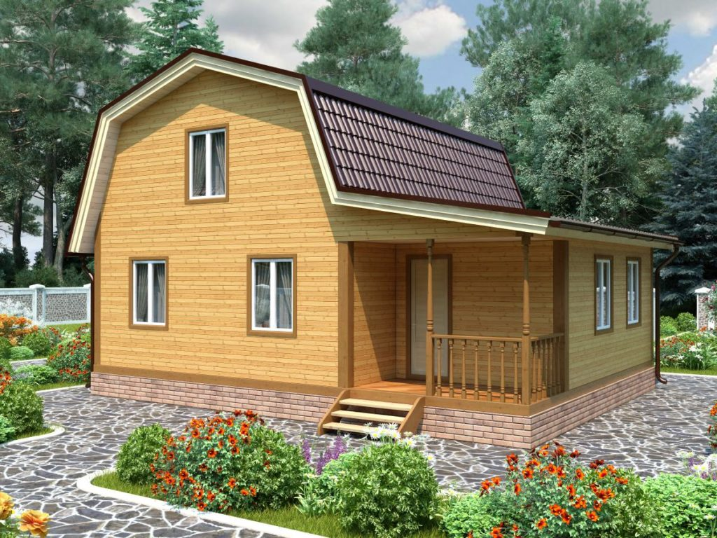 Проект дома из бруса 7х9 №Б-79 — «Михнево»