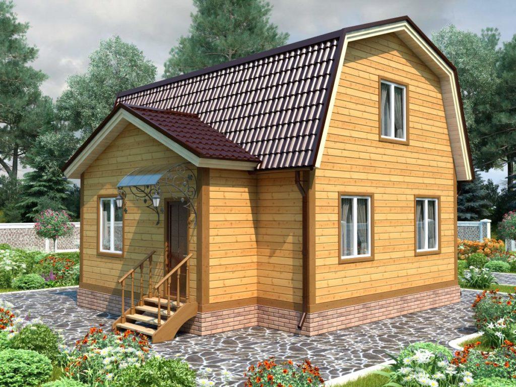 Проект дома из бруса 6х8 №Б-80 — «Ступино»