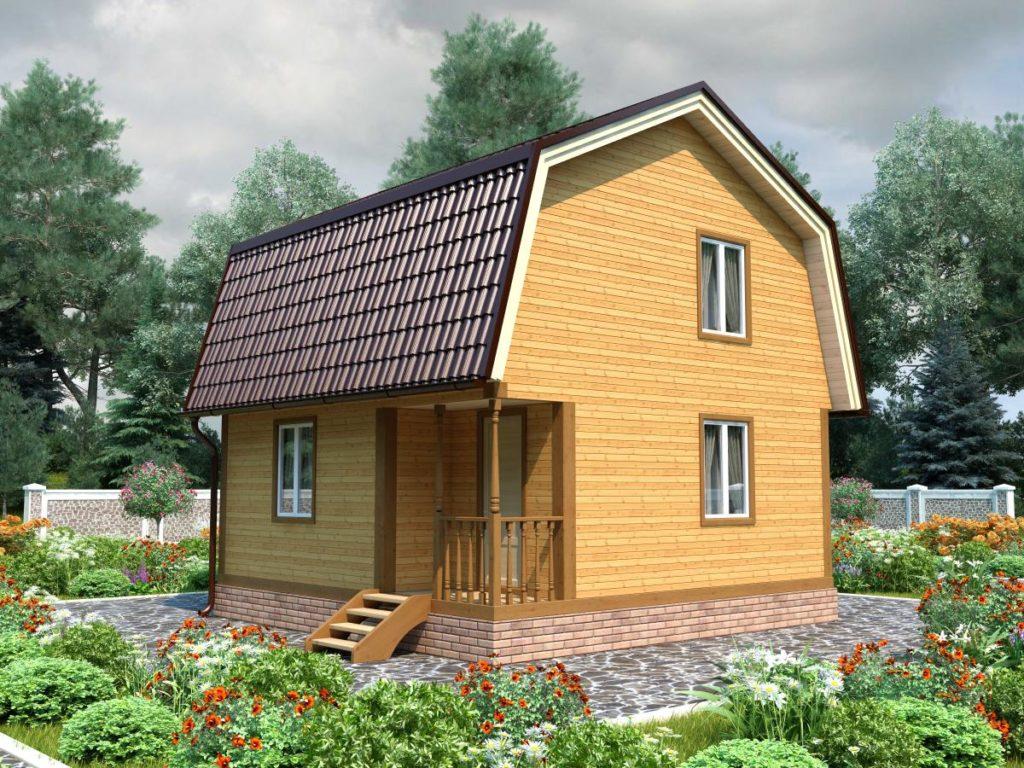 Проект дома из бруса 6х6 №Б-81 — «Фряново»