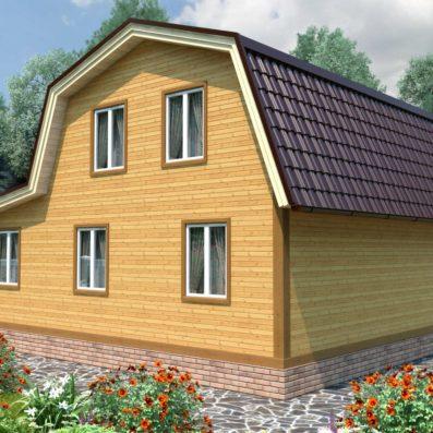 "Проект дома из бруса 8х9 №Б-82 - ""Яхрома"""