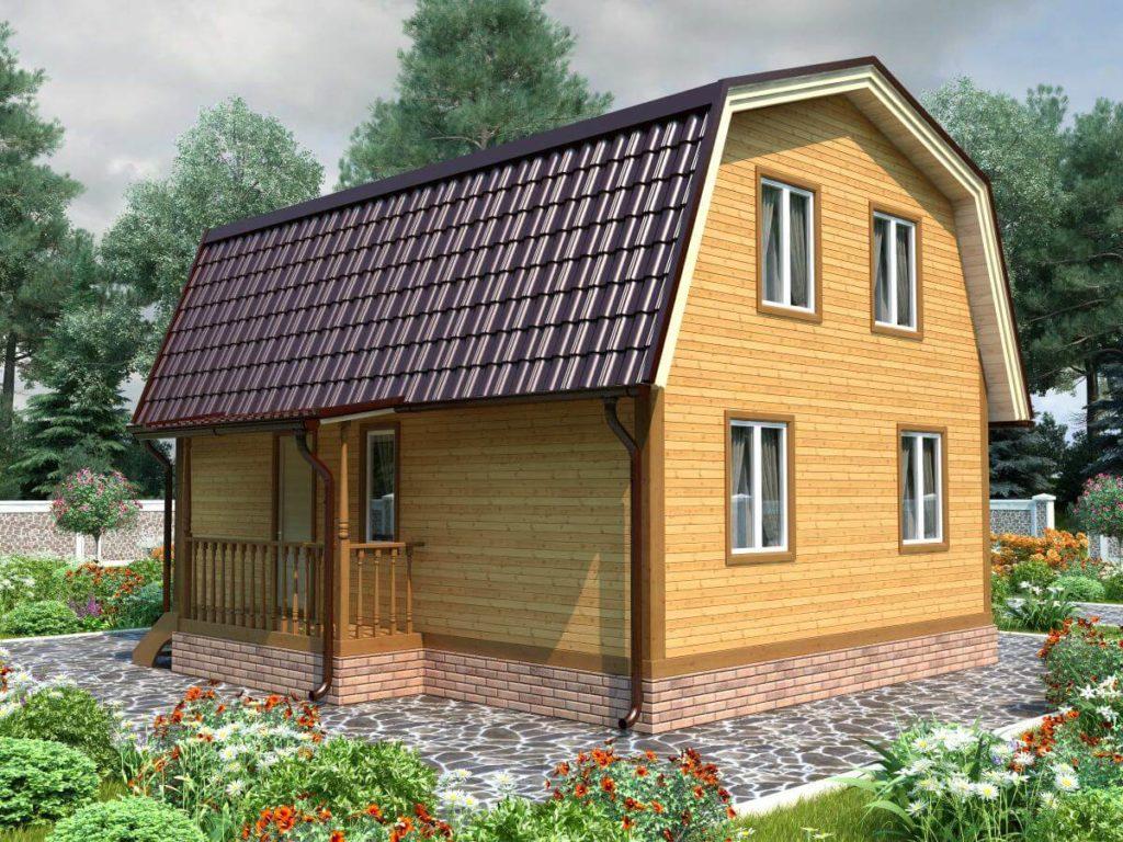 Проект дома из бруса 7х8 №Б-69 — «Краснозаводск»