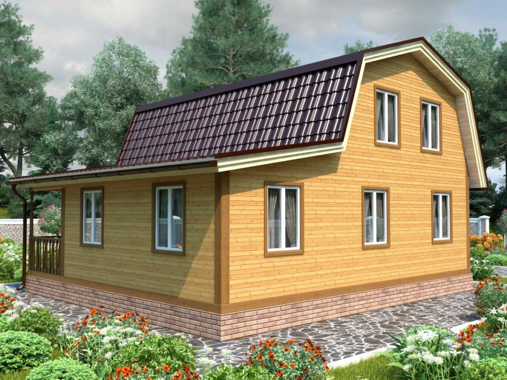 Проект дома из бруса 8х9 №Б-82 — «Яхрома»