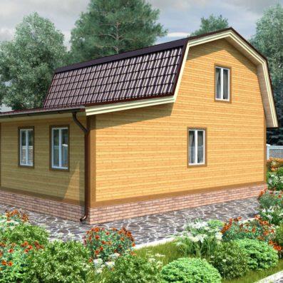 """Проект дома из бруса 7х9 №Б-79 - """"Михнево"""""""
