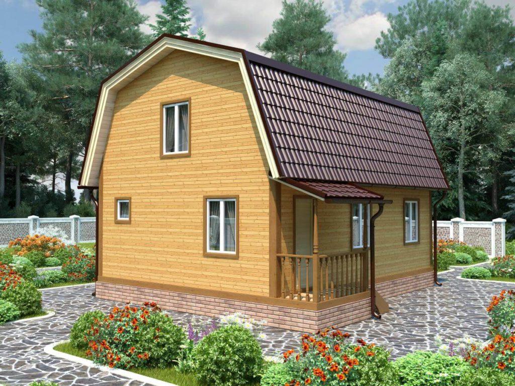 Проект дома из бруса 7х8 №Б-70 — «Струнино»