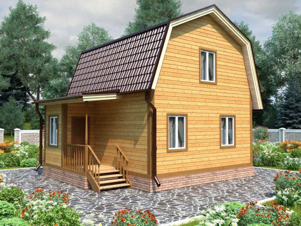 Проект дома из бруса 6х7,5 №Б-64 — «Киржач»