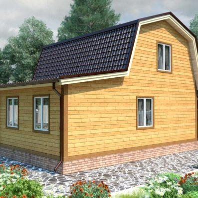 """Проект дома из бруса 7х9 №Б-65 - """"Красноармейск"""""""