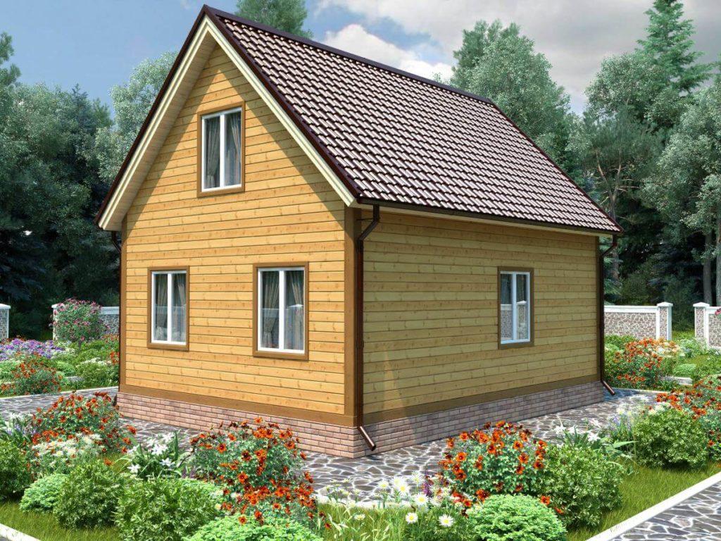 Проект дома из бруса 7.5х8 №Б-71 — «Хотьково»
