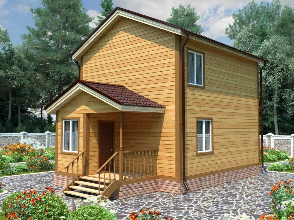 Проект дома из бруса 6х9 №Б-66 — «Софрино»