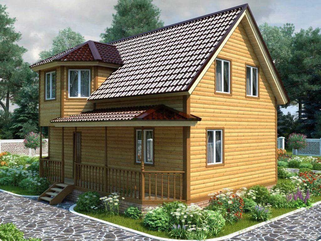 Проект дома из бруса 8.5х9 №Б-72 — «Солнечногорск»