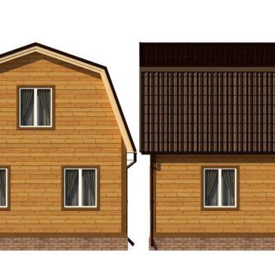"Проект дома из бруса 6х8 №Б-80 - ""Ступино"""