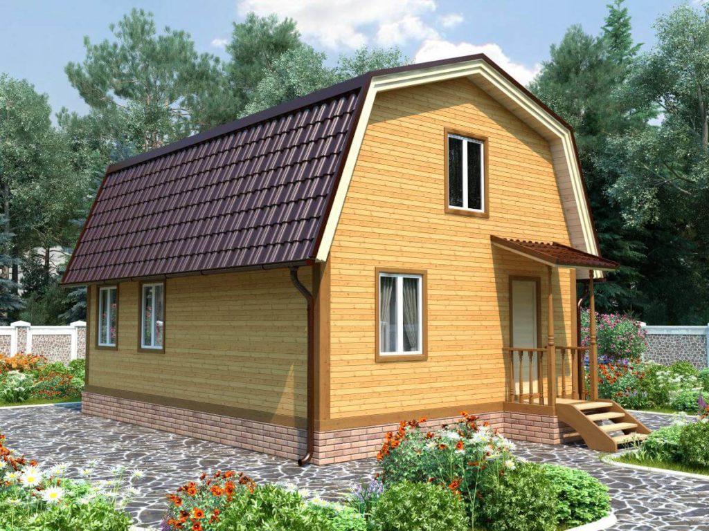 Проект дома из бруса 6х9 №Б-68 — «Конаково»