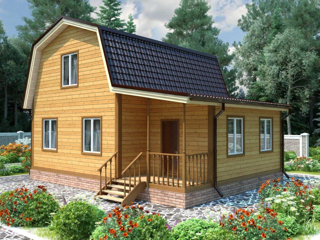 Проект дома из бруса 7х9 №Б-65 — «Красноармейск»