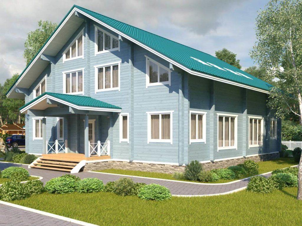Проект дома из бруса 14х14 №Б-73 — «Боровск»