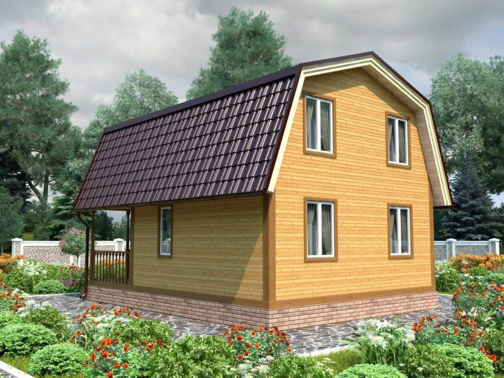 Проект дома из бруса 6х8 №Б-74 — «Броницы»