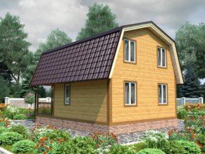 "Проект дома из бруса 6х8 №Б-74 - ""Броницы"""