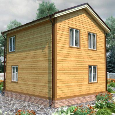 """Проект дома из бруса 6х9 №Б-66 - """"Софрино"""""""