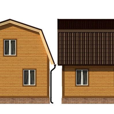 "Проект дома из бруса 7х9 №Б-67 - ""Фрязино"""