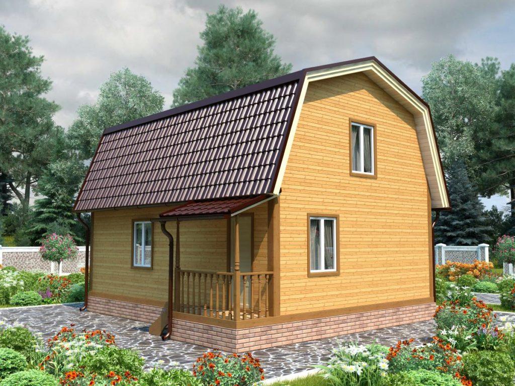 Проект дома из бруса 7х8 №Б-63 — «Куровское»