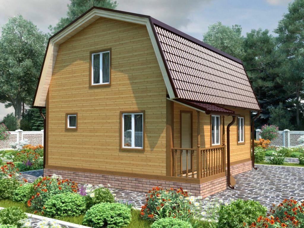 Проект дома из бруса 7х9 №Б-67 — «Фрязино»