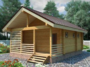 строительство деревянных бань из бруса под ключ