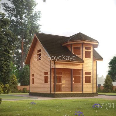 Проект дома из бруса 6x6 ДБ-92