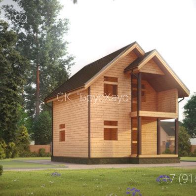 Проект дома из бруса 6x7 ДБ-101