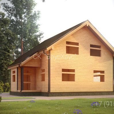Проект дома из бруса 9x8 ДБ-98