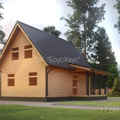 Проект дома из бруса 6x9 ДБ-97