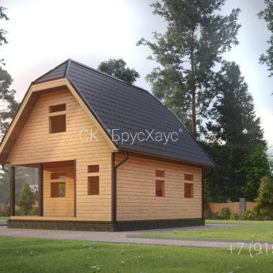 Проект дома из бруса 6x8 ДБ-102