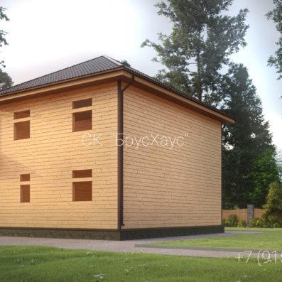 Проект дома из бруса 8.5×9 ДБ-107
