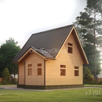 Проект дома из бруса 6x7,5 ДБ-99