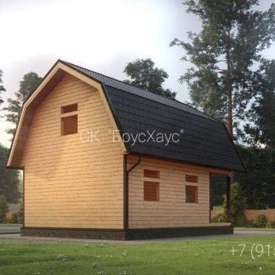 Проект дома из бруса 6×8 ДБ-103