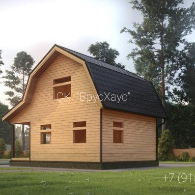 Проект дома из бруса 6×8 ДБ-108