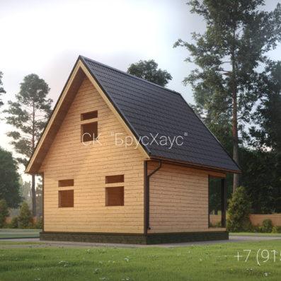 Проект дома из бруса 6x6 ДБ-95
