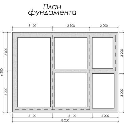 Проект дома из бруса 6×8 ДБ-106